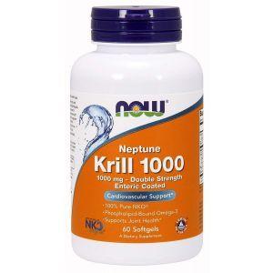 Масло криля, Krill, Now Foods, 1000 мг, 60 капс