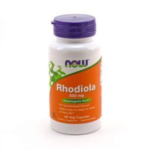 Родиола розовая (Rhodiola), Now Foods, 500 мг, 60 кап