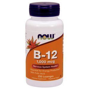 Витамин В12, B-12, Now Foods, 1000 мкг, 250 леденцов
