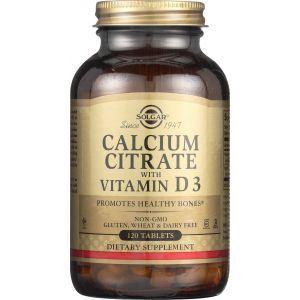Кальций цитрат и витамин Д3, Calcium Citrate with Vitamin D3 250 mg/150 IU, Solgar, 120 таблеток (Default