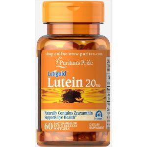 Лютеин для зрения с зеаксантином, Lutein 20 mg with Zeaxanthin, Puritan's Pride, 20 мг, 60 капсул