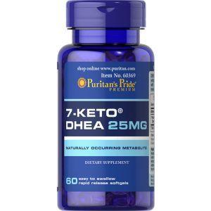 7 - кето Дегидроэпиандростерон, 7-KETO, Puritan's Pride, 25 мг, 60 капсул