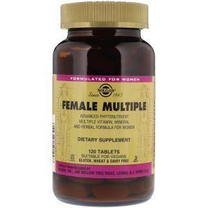 Витамины для женщин, Female Multiple, Solgar, 120 таблеток (Default)