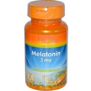 Мелатонин, Thompson, 3 мг, 30 таблеток