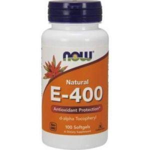 Витамин Е, E-400, Now Foods, 400, 100 капс.