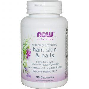 Витамины для кожи, волос и ногтей, Now Foods, 90 кап.