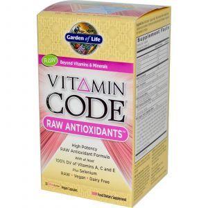 Сырые Витамины, Антиоксиданты, Garden of Life, 30 кап.