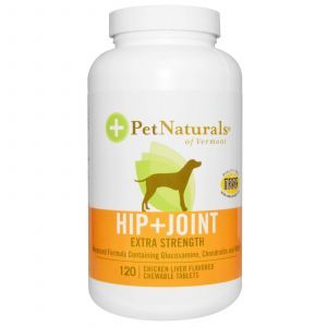 Pet Naturals of Vermont, Hip + Joint, For Dogs, Chicken Liver Flavored, 120 Chewable Tablets