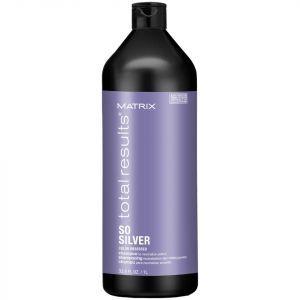Шампунь для нейтрализации желтизны волос, окрашенных в оттенки блонд, Total results So Silver Color Obsessed Shampoo, Matrix, 1000 мл