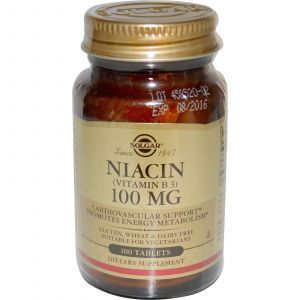 Витамин В3, Solgar, 100 мкг, 100 таб