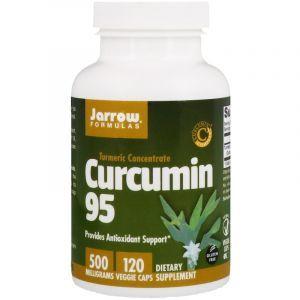 Куркумин, Curcumin 95, Jarrow Formulas, 500 мг, 120 капсул (Default)