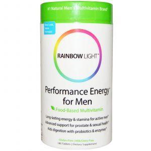 Витамины для мужчин без железа, Performance Energy, Rainbow Light, 180 таб