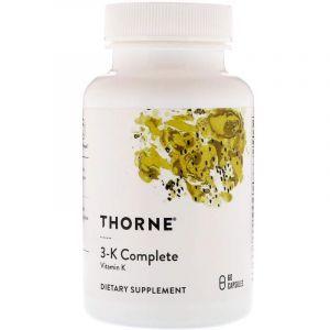 Витамин 3-К, 3-K Complete, Thorne Research, 60 капсул (Default)
