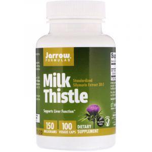 Расторопша (Milk Thistle), Jarrow Formulas, 150 мг, 100 капсул (Default)