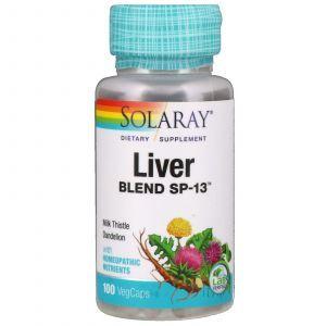 Защита печени, Liver Blend SP-13, Solaray, 100 капсул (Default)