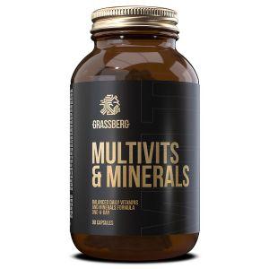 Мультивитамины и минералы, Multivits & Minerals, Grassberg, 90 капсул