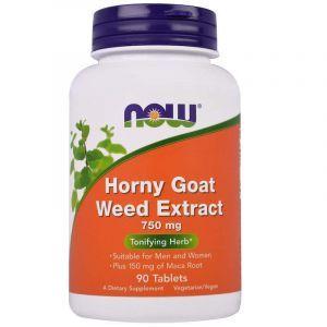 Горянка с макой (Horny Goat Weed), Now Foods, экстракт, 750 мг, 90 таблеток (Default)