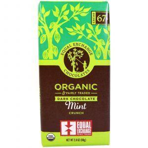 Шоколад с мятой, Mint Crunch, Equal Exchange, 80 г