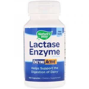 Лактаза (Lactase), Nature's Way, 100 капсул (Default)