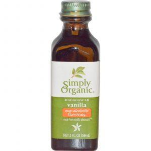 Ванильный ароматизатор без спирата, Vanilla Flavoring, Simply Organic, 59 мл