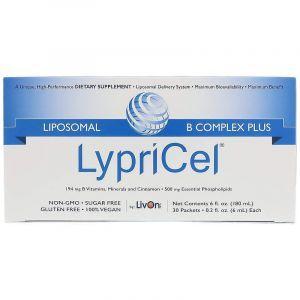 В-комплекс липосомальный, B Complex Plus, LypriCel, для веганов, 30 пакетов по 6 мл