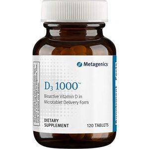 Витамин Д-3, D3 1000, Metagenics, 1000 МЕ, 120 таблеток