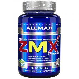 Кальций, Магний, Витамин В-6, ZMX2 Advanced, ALLMAX Nutritione, 90 капсул