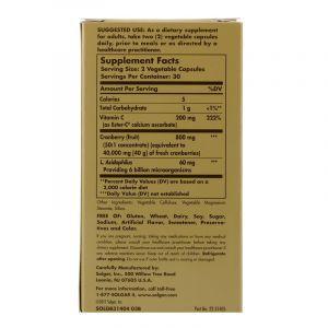 Клюква с пробиотиками, Cran Flora, Solgar, 60 кап. (Default)