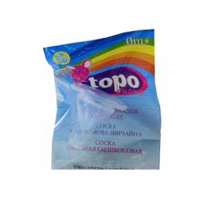 Cоска для бутылочки Topo Buono, Syryca, силиконовая,  обычная