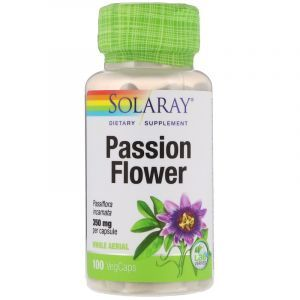 Пассифлора, Passion Flower, Solaray, 350 мг, 100 капсул (Default)