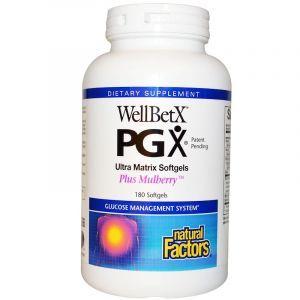 Витамины (WellBetX PGX) и шелковица, Natural Factors, 180 капсул (Default)