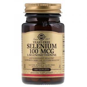 Селен без дрожжей (Selenium), Solgar, 100 мкг, 100 таблеток (Default)