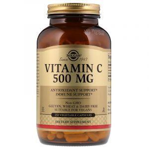 Витамин С, Vitamin C, Solgar, 500 мг, 250 капсул (Default)