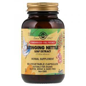 Крапива, экстракт листьев, Nettle, Solgar, 60 капсул (Default)