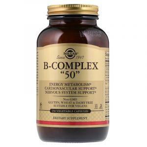 """Комплекс витаминов группы В-50, B-Complex """"50"""", Solgar, 250 капсул (Default)"""