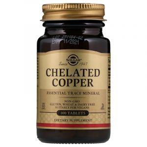 Медь (Chelated Copper), Solgar, 100 таблеток (Default)