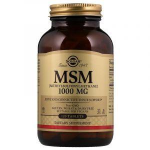 Метилсульфонилметан, MSM, Solgar, 1000 мг, 120 таблеток (Default)