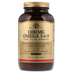 Рыбий жир, Омега 3 6 9 (EFA, Omega 3-6-9), Solgar, 1300 мг, 120 капсул (Default)