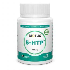 5-HTP (5-гидрокситриптофан), 5-HTP, Biotus, 60 капсул