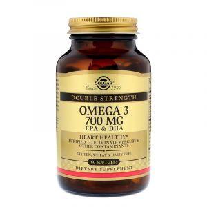 Рыбий жир, Омега 3 (Omega-3), Solgar, 700 мг, 60 капcek (Default)