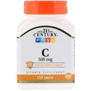 Витамин С, 21st Century, 500, 110 таблеток (Default)