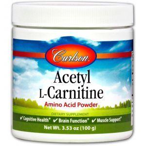 Ацетил -L карнитин, Carlson Labs, порошок 100 г