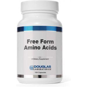 Смесь аминокислот для поддержки здоровья, Free Form Amino Capsules, Douglas Laboratories, 100 капсул