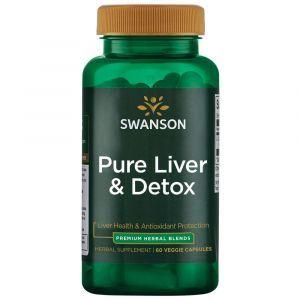 Поддержка и детоксикация печени, Ultra Pure Liver and Detox, Swanson, 60 вегетарианских капсул