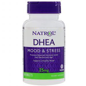 Дегидроэпиандростерон, DHEA, Natrol, 25 мг, 90 таблеток