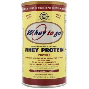 Сывороточный протеин, ваниль, Whey Protein, Solgar, порошок, 340 г (Default)