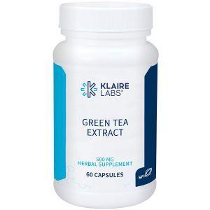 Зеленый чай, экстракт, Green Tea Extract, Klaire Labs, 500 мг, 60 вегетарианских капсул