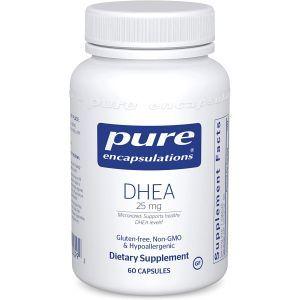ДГЭА, DHEA, Pure Encapsulations, 25 мг, 60 капсул