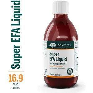 Поддержка сердечно-сосудистой системы, глаз, мозга, нервов, Super EFA Liquid, Genestra Brands, апельсиновый вкус, 500 мл.
