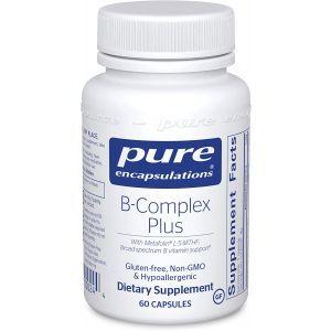 Витамин B (сбалансированная витаминная формула), B-Complex Plus, Pure Encapsulations, 60 капсул